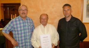 1. Vorsitzender Kurt Steller, Ehrenvorsitzender Albert Laier, 2. Vorsitzender Holger Schroth